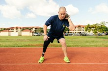 Brett competes in shot put at the Wounded Warrior Pacific Invitational in Hawaii. / Photo courtesy U.S. Department of Defense