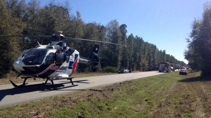 TraumaOne Lake City at accident scene